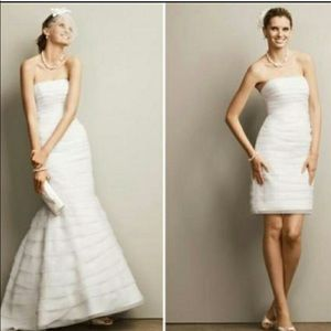 DB White Wedding Dress Convertible 2 in 1 - SIZE 6